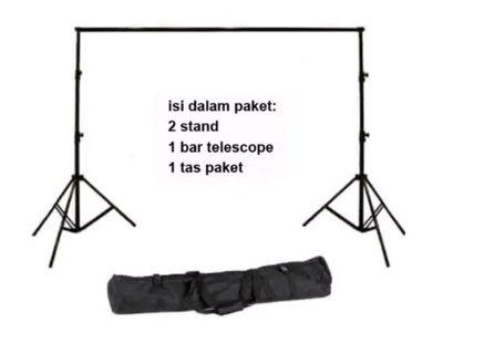Jual Stand Baground Backdrop Tiang Tihang 3x3 meter