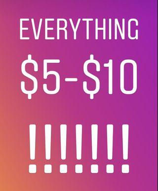 Everything on page $5-$10