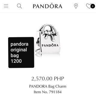 Original Preloved Pandora bag charm