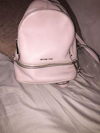 Baby pink Micheal Kors backpack