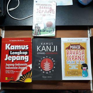 Paket 4 Buku bahasa jepang [150k]