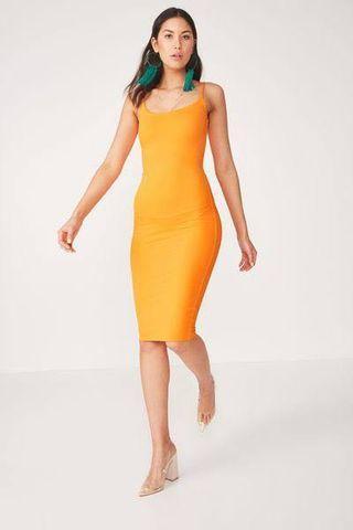 mango slinky bodycon dress