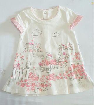 Baby Girl Dress - Rabbit prints