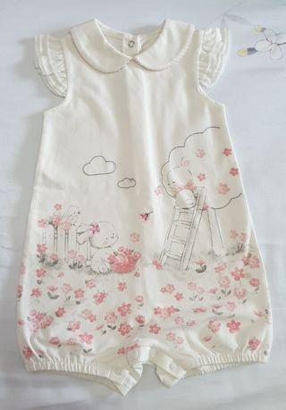 Baby Girl Romper - Rabbit prints