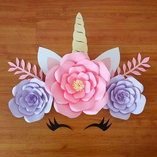 Unicorn Paper Flower Wedding Deco