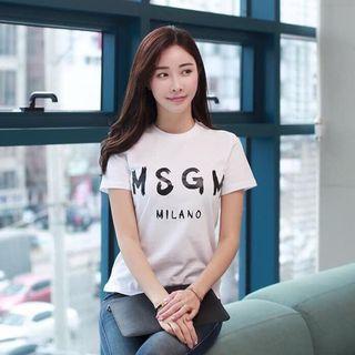 🚚 MSGM 白色短Tee 尺寸L號