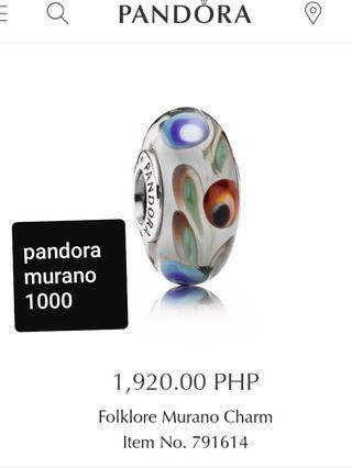 Original Pandora Preloved Murano Forklore charms pair