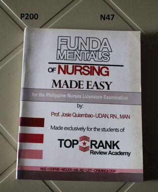 Fundamentals of Nursing  made easy for the Philippine NLEX