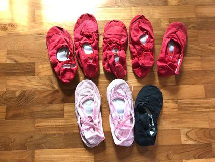 8 pairs for $14 Ballet shoes