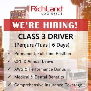 Driver Class 3 (Penjuru/Tuas | 6 Days | AWS & VB)