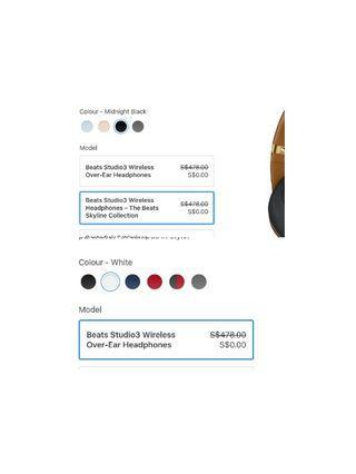 BEATS SOLO STUDIO 3 BNIB u choose color  & model