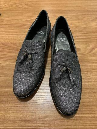 Brand new Stuart weitzman Shimmer loafers silver #mtrcentral