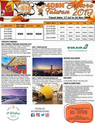 Taiwan, Japan and Korea Package Tour