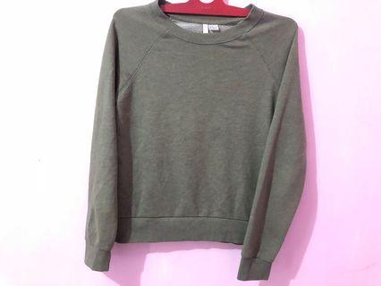 Sweater Green Army h&m