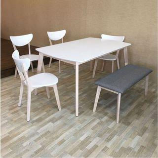 4+1+bench dining table set (FREE POSTAGE) NO COD