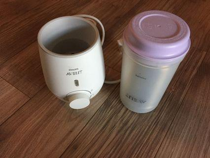 Avent Bottle Warmer and thermos