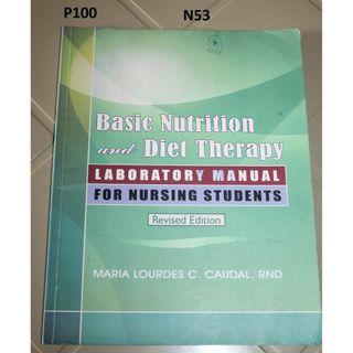 Basic Nutrition and diet Therapy- Laboratory Manual for Nursing Students