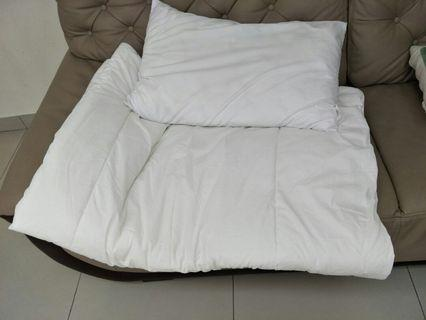 Pillow and Blanket for Single