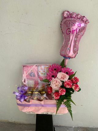 🚚 New born baby flower set