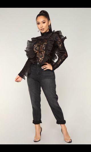 Lace and ruffle Bodysuit xs
