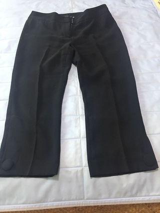 Giordano ladies 黑色7分褲
