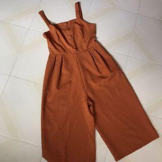 Orange Brown Jumpsuit