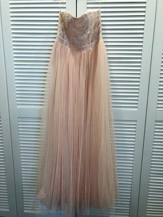 Bridal/ Dinner Gown in peach color