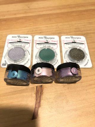 $20 包平郵 Bourjois mini eyeshadows 6pcs