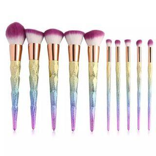 Unicorn Brushes 10pc (LAST)