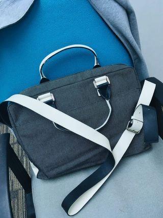 CK canvas messenger bag