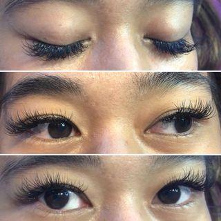 Hybrid full set ( eyelash extensions)