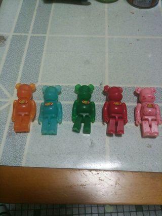 Jelly Belly Bearbrick 5隻