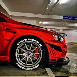 Tyrebomb / tyre tag / tyre sticker / tyre kit / tyre decal