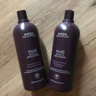 Aveda 1L invati shampoo conditioner