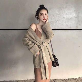 KOREAN Oversized Wrap Cardigan