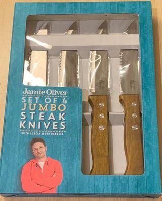 全新Jamie Oliver Jumbo Steak Knives 一套4把