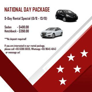 National Day Car Rental 5-Day Package