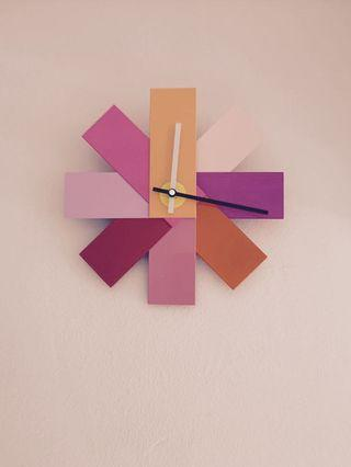 BNIB Normann Copenhagen Designer Watch Me Wall Clock Pink