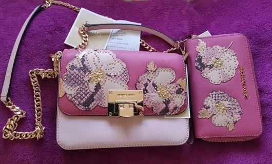 BN Michael Kors sling and wallet bundle