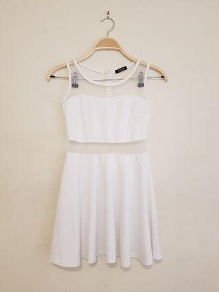 Mesh white dress