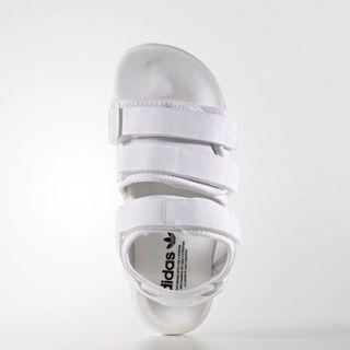 全新正品adidas ADILETTE SANDAL W 魔鬼氈涼鞋 白色 涼鞋