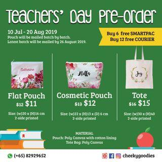 TEACHERS DAY GIFT! custom canvas pouch & tote bag