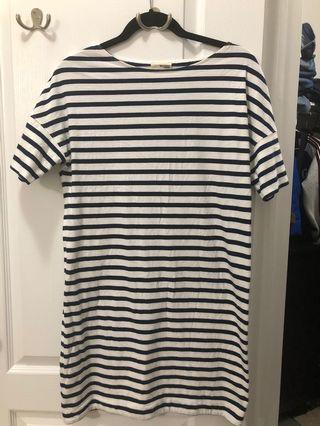 Wilfred stripe dress size xs