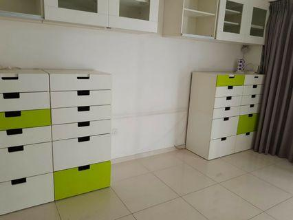 Ikea wall cabinets - with 2 sliding glass doors