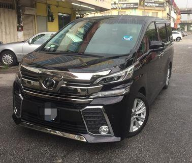 New buged vellfire, alphard , starex for rent