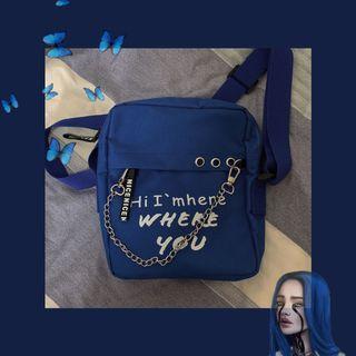 🚚 藍色鏈條小包⛓️