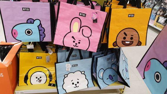 BTS BT21 OFFICIAL TARPAULIN BAG