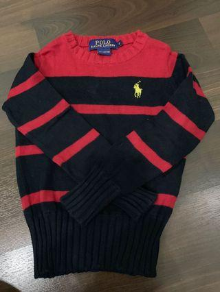 Preloved polo ralph laurent ( original ) sweater size 2. ( for 2-3 y)