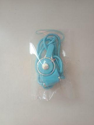 【歡迎私訊議價】掛脖式多功能手機 證件掛繩 可拆式(淺藍色)