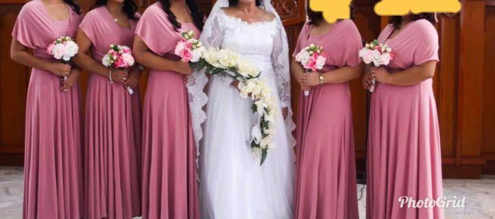 High Quality Floor Length Infinity Gown in Mauve